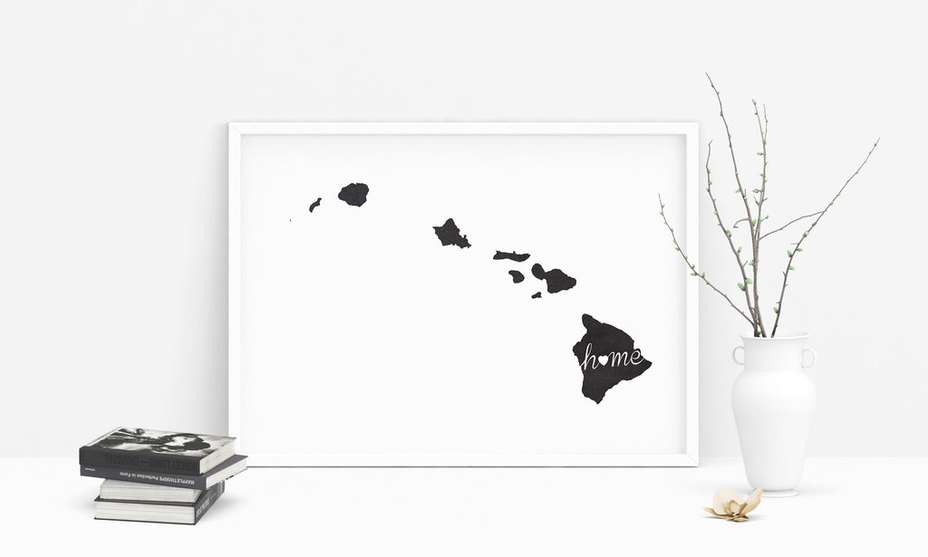 Hawaii Wall Art Chalkboard Home Printable Poster