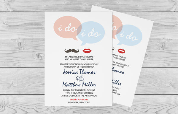 I Do Speech Bubble Wedding Invitation Template