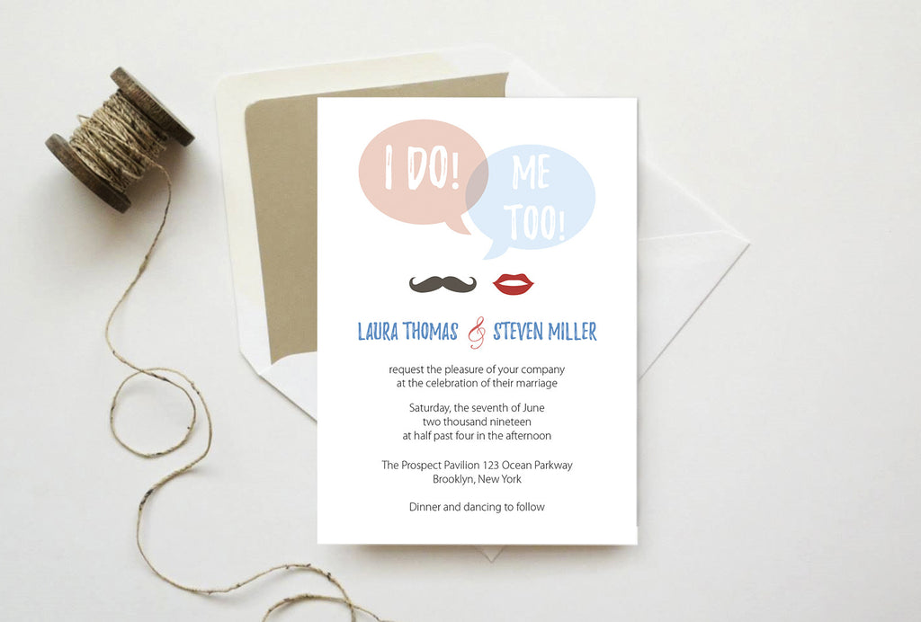 We Do Speech Bubble Wedding Invitation Template – DIYprintable