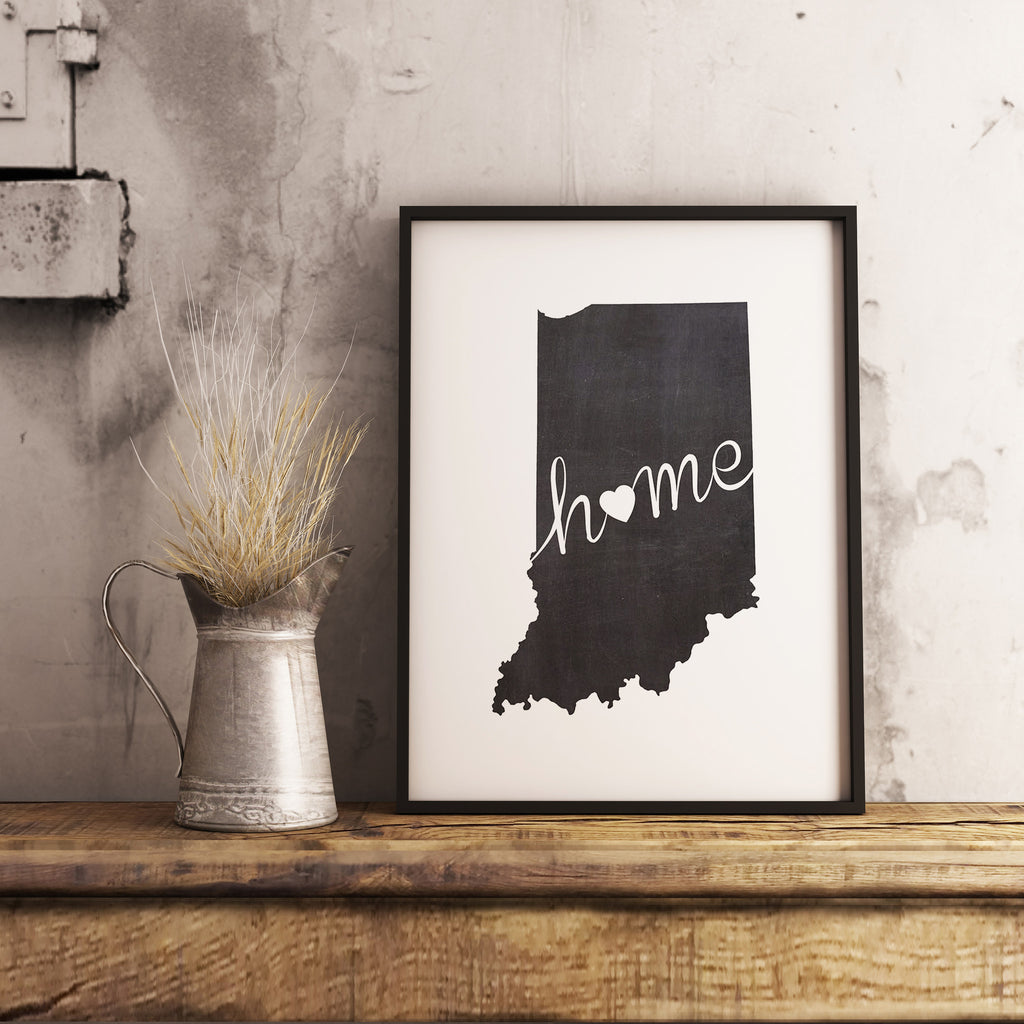 Indiana Wall Art Chalkboard Home Printable Poster