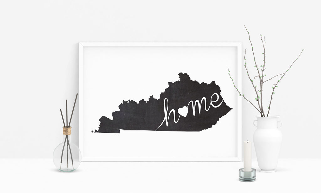Kentucky Wall Art Chalkboard Home Printable Poster
