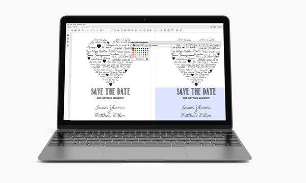 I Love You other Languages Heart Kraft Paper Save the Date Template - DIYprintable
