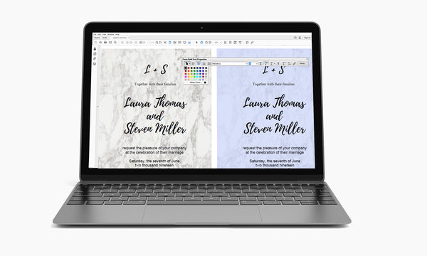 Modern Marble Wedding Invitation Template