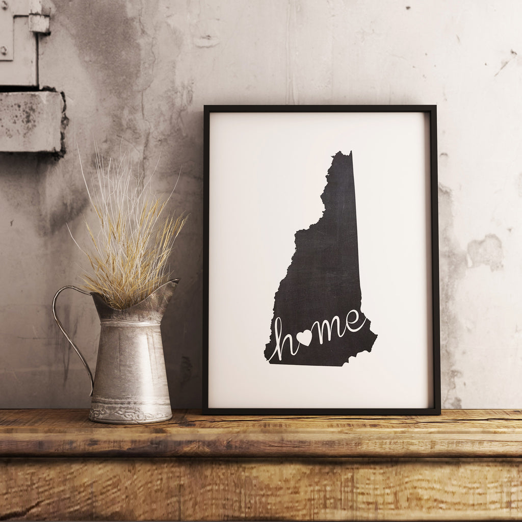 New Hampshire Wall Art Chalkboard Home Printable Poster