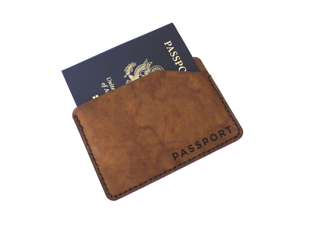 New to the Shop - Minimal Passport Wallets in Leather