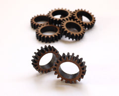 Gear Rings in Laser Cut Bamboo