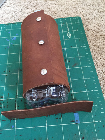 support piece for leather water bottle holder