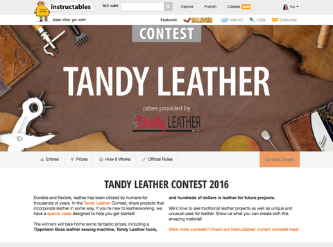 Tandy Leather Contest on Instructables