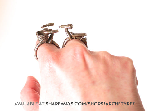 bicycle rings available from shapeways