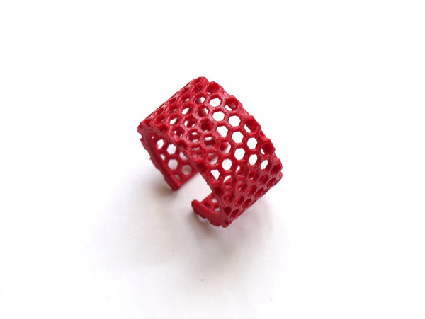 3d printed honeycomb ring