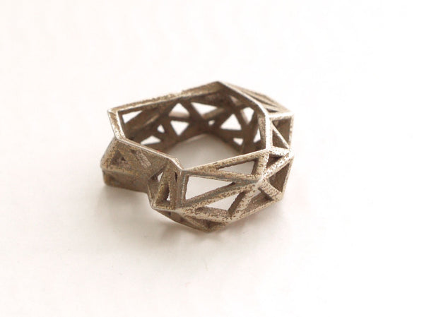 stainless steel ring 3d printed