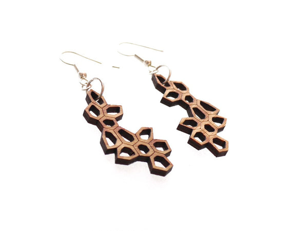 bamboo earrings laser cut