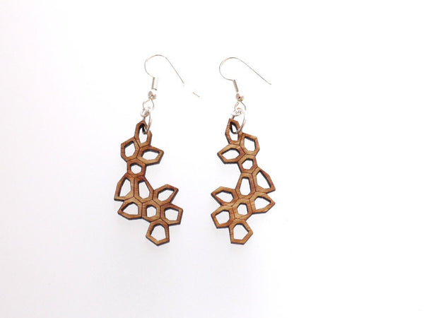 Bamboo Irregular Honeycomb Earrings