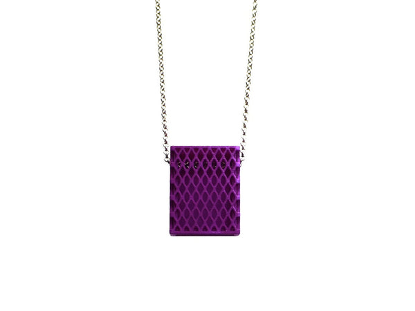 3d printed purple necklace