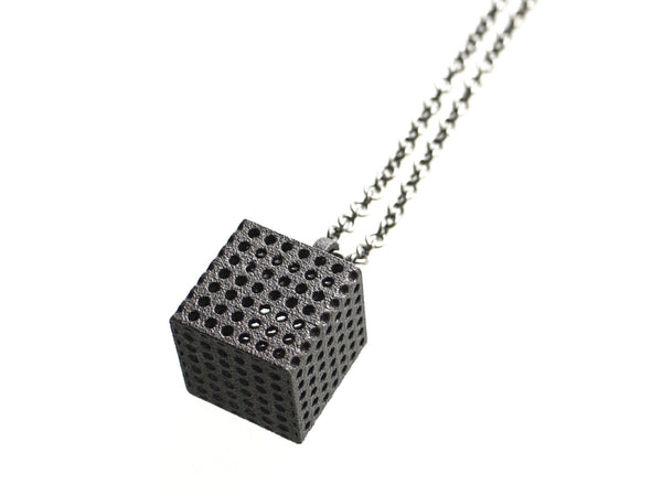 industrial 3d printed  jewelry pendant