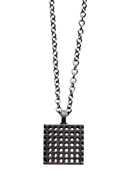 perforated cube pendant
