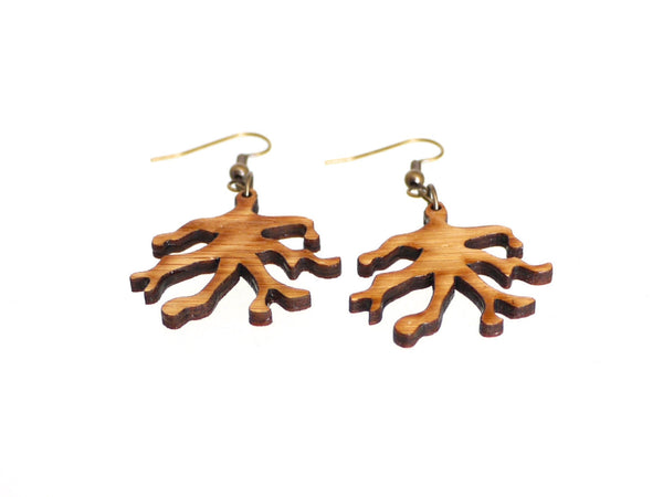 Bamboo Wood Branch Earrings