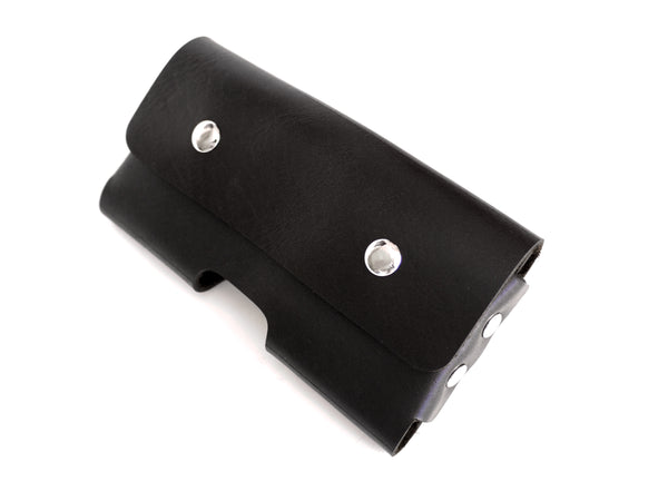 Black Leather iPhone Holster