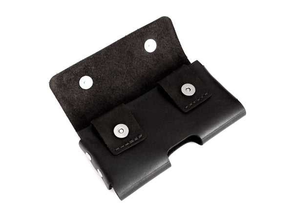 Black iPhone X Holster with 2 snaps
