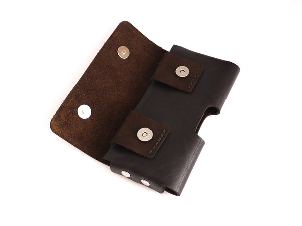iPhone belt holster with magnetic snaps