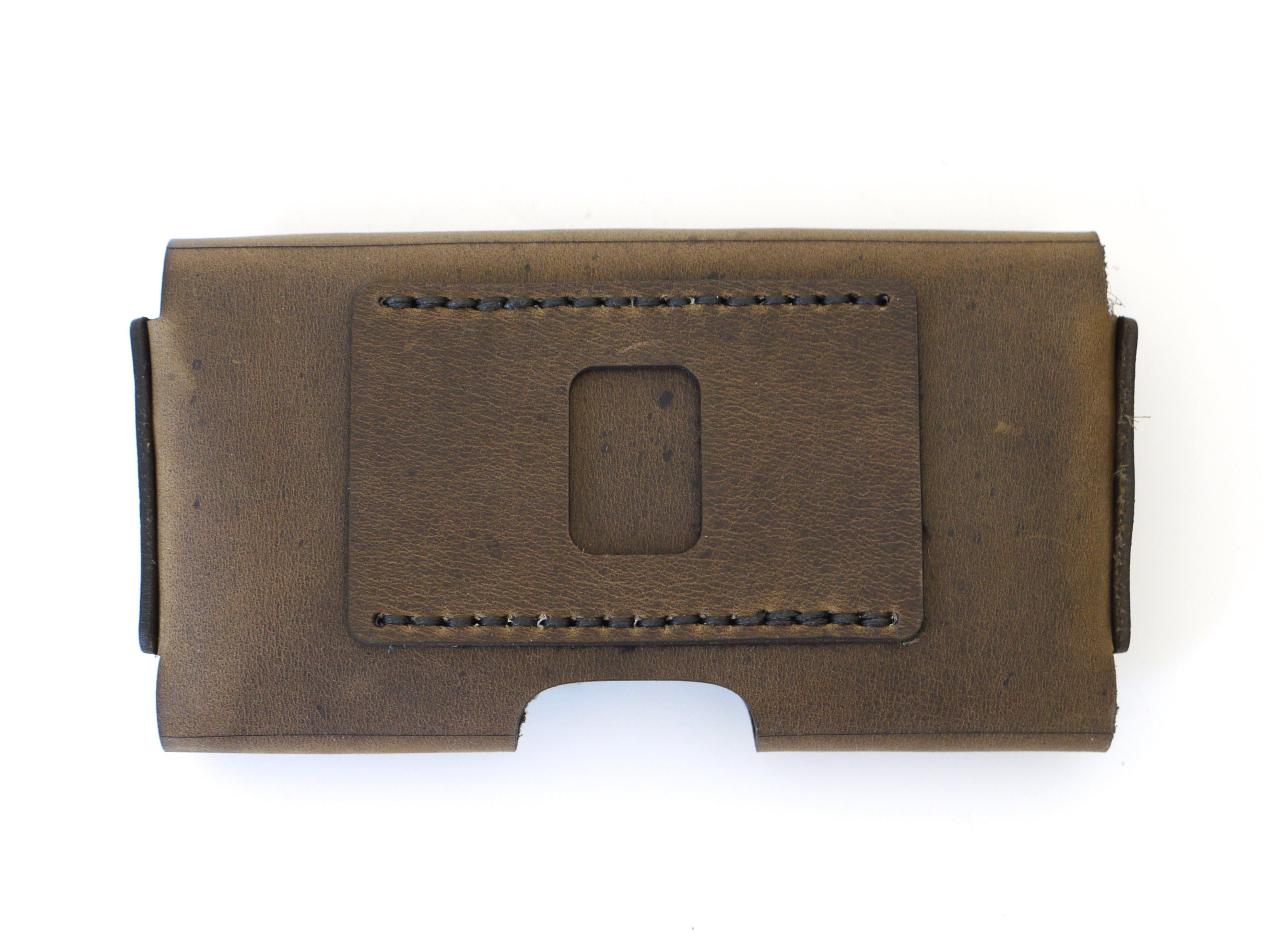 hot sale online 00bb2 8aed6 iPhone X Horizontal Holster in Brown Distressed Leather, with optional belt  clip