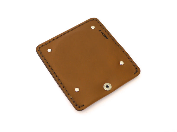 Tan Leather Compact Mirror