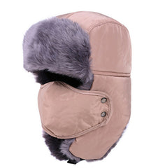 Windproof Winter Face Mask/ Fur Hat