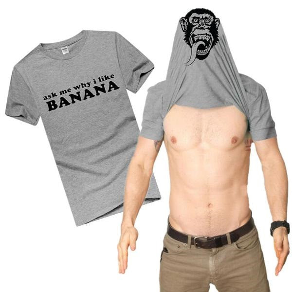 Vegan Fruitarian Bannana Chimp Flip T-Shirt