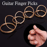 4Pcs  Metal Classical Guitar Butterfly Finger Picks