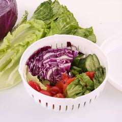 Quick & Easy Salad Maker Cutting Bowl & Washer
