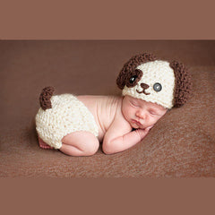 Baby Infant Knitted Puppy Dog Costume