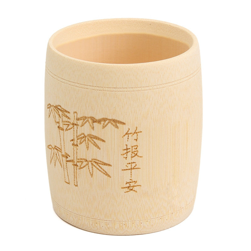 Engraved Bamboo Tea Cup