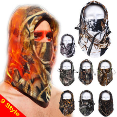 Camo Tactical Thermal Fleece Full Face Wind-Proof Balaclava Hood