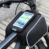 Double Bicycle Bag with Transparent Touch Sensitive Phone Pouch