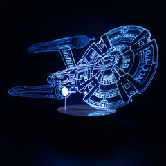 Creative 3D Light LED Bulb Star Trek USS ENTERPRISE NCC-1701 Lamp