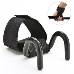Adjustable Steel Hook Grip Straps Weight Lifting Strength Training