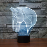 Creative 3D Horse Illusion Lamp