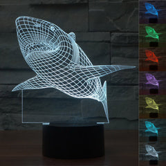 Creative 3D Shark Illusion Lamp