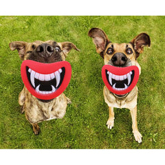 Funny Devil's Lip Squeaking Dog Toy