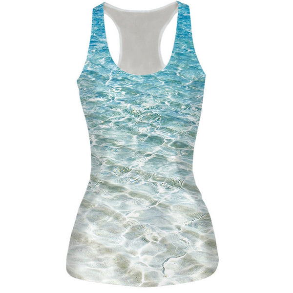 3D Tropical Ocean Wave Tank Top