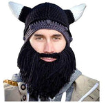 Vikings Horn & Beard Face Mask