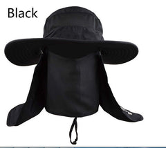 Wide Brim Sun Blocker Full Face Cover Hat