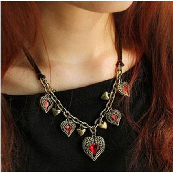 Wings of Love Hearts Chain Necklace