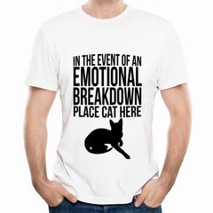 Emotional Breakdown Cat T-Shirt