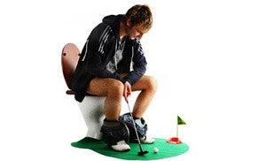 Potty Putter Toilet Golf Game Mini Golf Set - THE BEST FATHERS DAY GIFT!