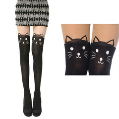 Cute Black Cat Stockings