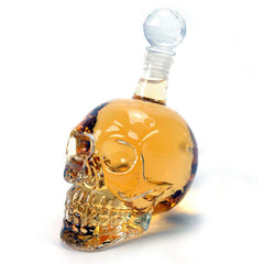 Glass Skull Liquor Container