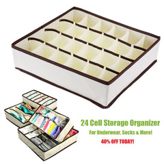 24 Cells Folding Storage Box