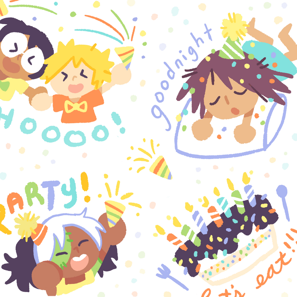 Party Time Stickersheet