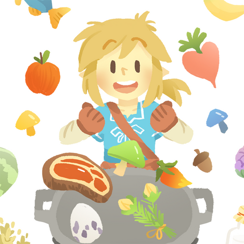 Cooking with Link! BOTW Stickersheet